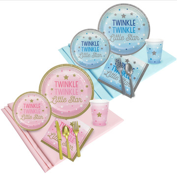 Twinkle Twinkle Little Star Pink and Blue Party Pack (16)