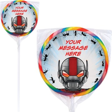 Insect Man Personalized Lollipops (12 Pack)