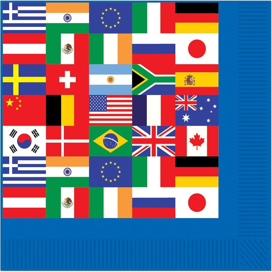 View larger image of International Party Beverage Napkins (16 Pack)