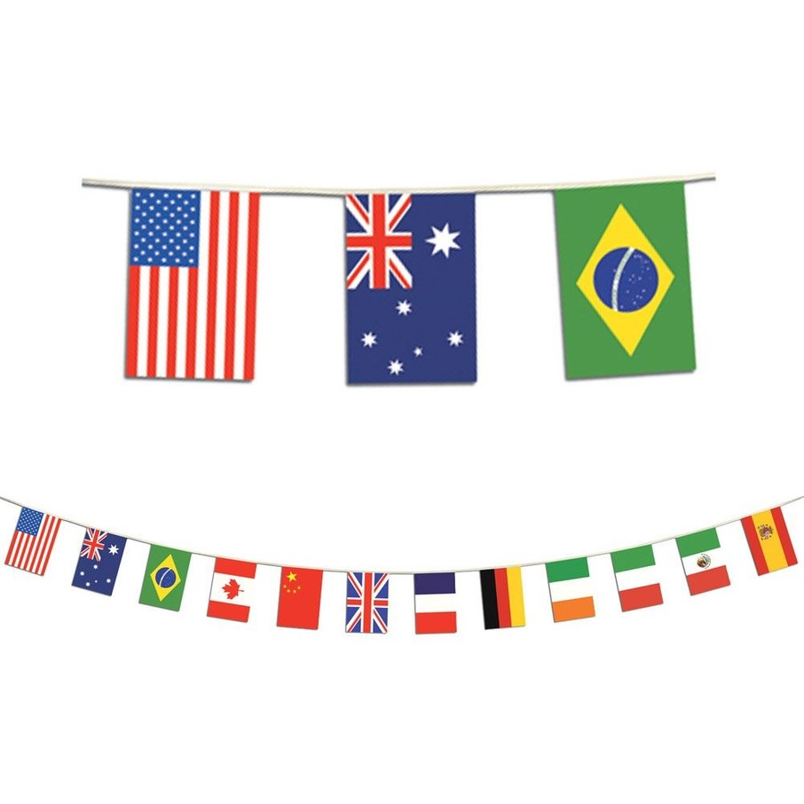 View larger image of International Party Flag Banner (Each)
