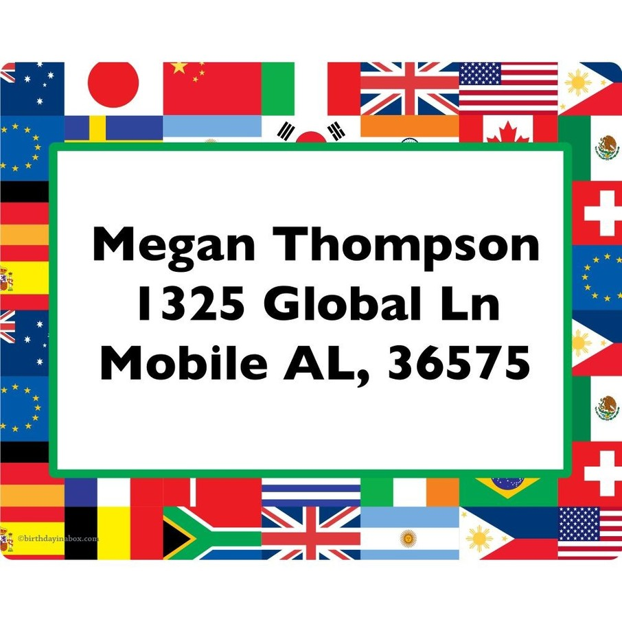 View larger image of International Personalized Address Labels (Sheet of 15)