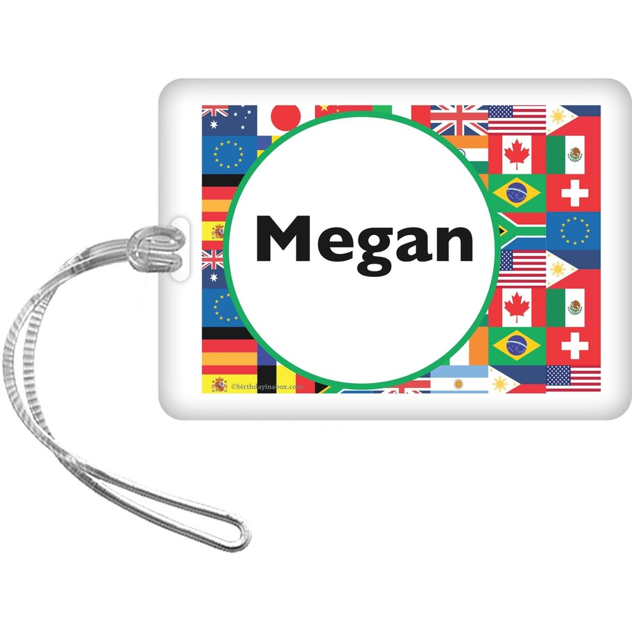 View larger image of International Personalized Bag Tag (each)