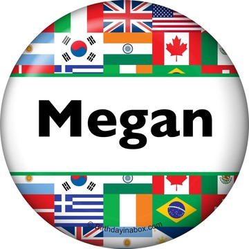 International Personalized Button (Each)