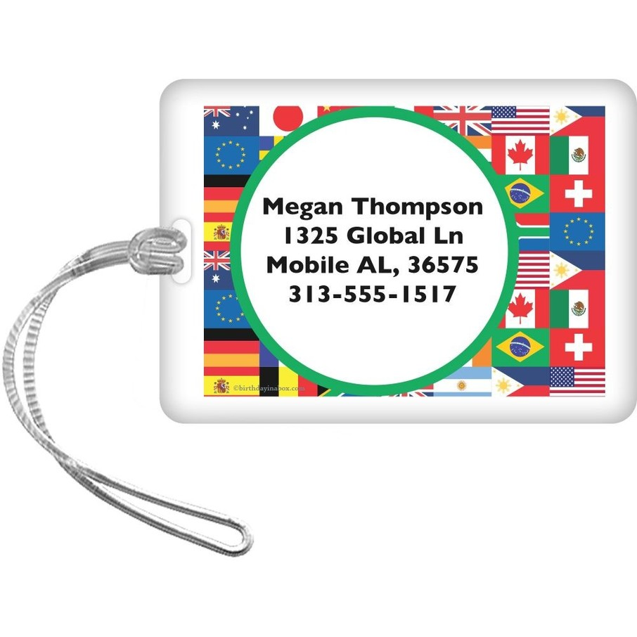 View larger image of International Personalized Luggage Tag (Each)