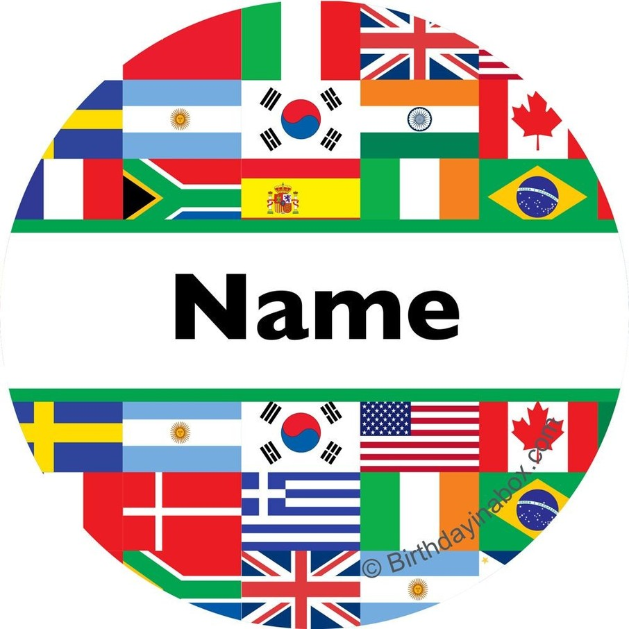 View larger image of International Personalized Mini Stickers (Sheet of 24)