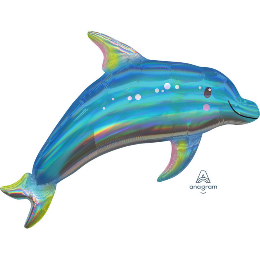 "View larger image of Iridescent Blue Dolphin 29"" Balloon (1)"