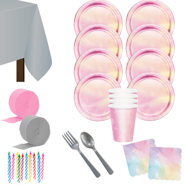 Iridescent Deluxe Tableware Kit (Serves 8)