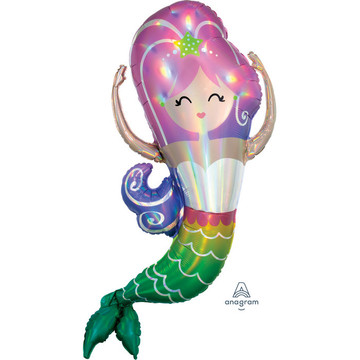 "Iridescent Mermaid 41"" Balloon (1)"