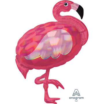 "Iridescent Pink Flamingo 33"" Balloon (1)"