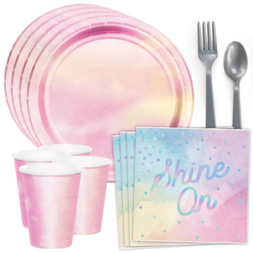 Iridescent Shine On Standard Tableware Kit (Serves 8)