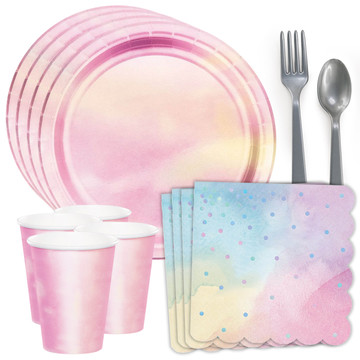 Iridescent Standard Tableware Kit (Serves 8)