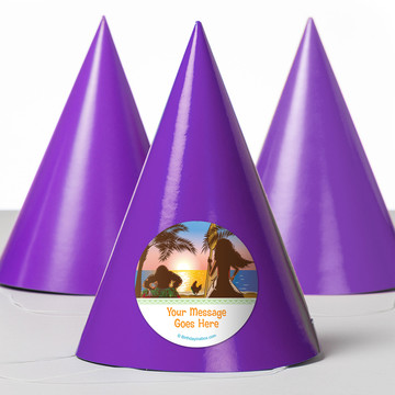 Island Princess Personalized Party Hats (8 Count)