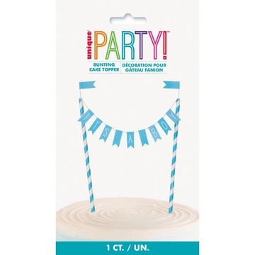 """""""It's a Boy"""" Baby Shower Bunting Cake Topper"""