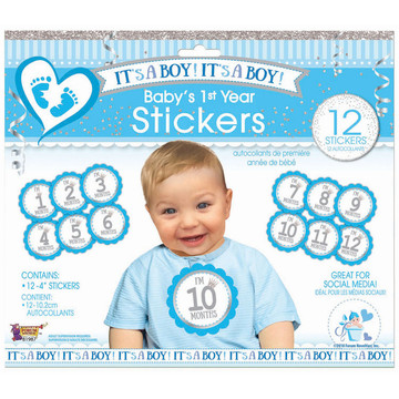 It's A Boy Baby's 1st Year Stickers