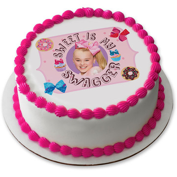 "JoJo Siwa 7.5"" Round Edible Cake Topper (Each)"