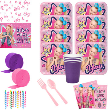 JoJo Siwa Deluxe Tableware Kit (Serves 8)
