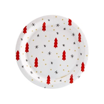 Joy to the World Tree, Dot Star Toss Dessert Plate (8)