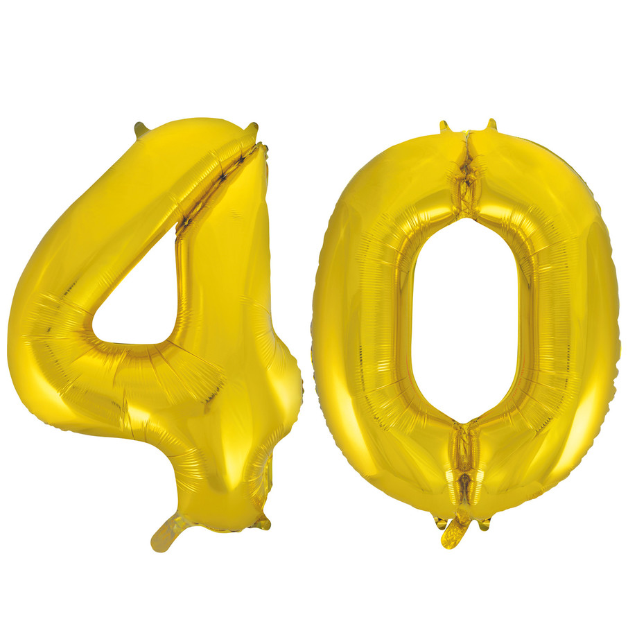 View larger image of Jumbo Gold Foil Balloons-40