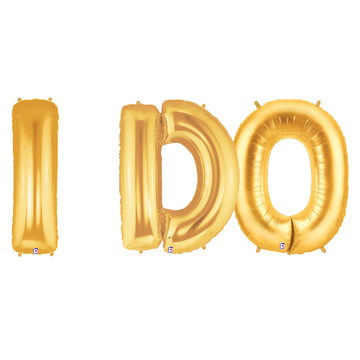 Jumbo Gold Foil Balloons-I DO