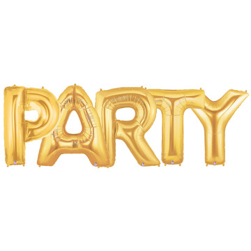 Jumbo Gold Foil Balloons-PARTY
