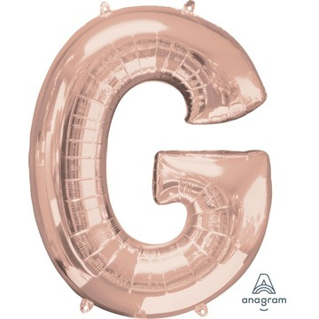 Jumbo Rose Gold Letter 32 Foil Balloon - G