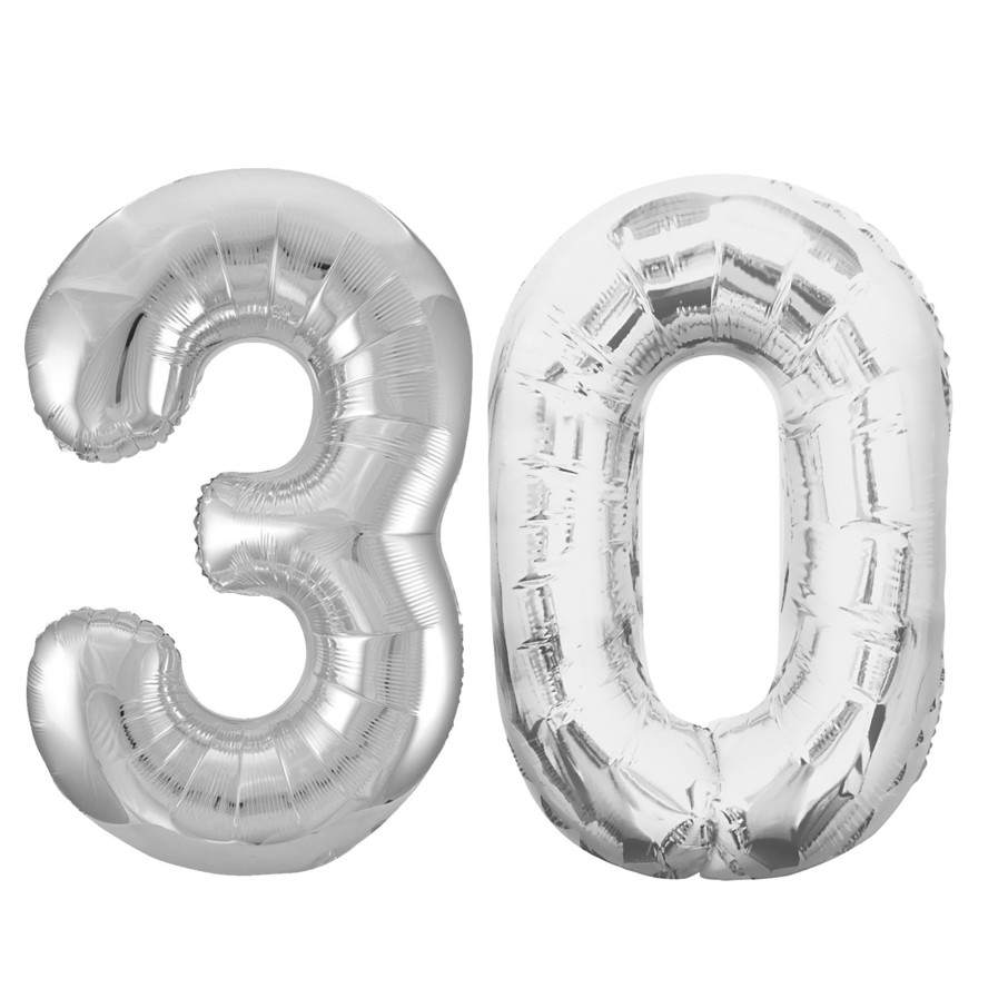 View larger image of Jumbo Silver Foil Balloons-30