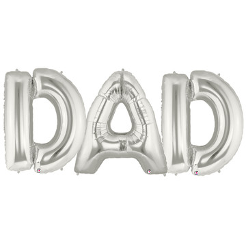 Jumbo Silver Foil Balloons-DAD
