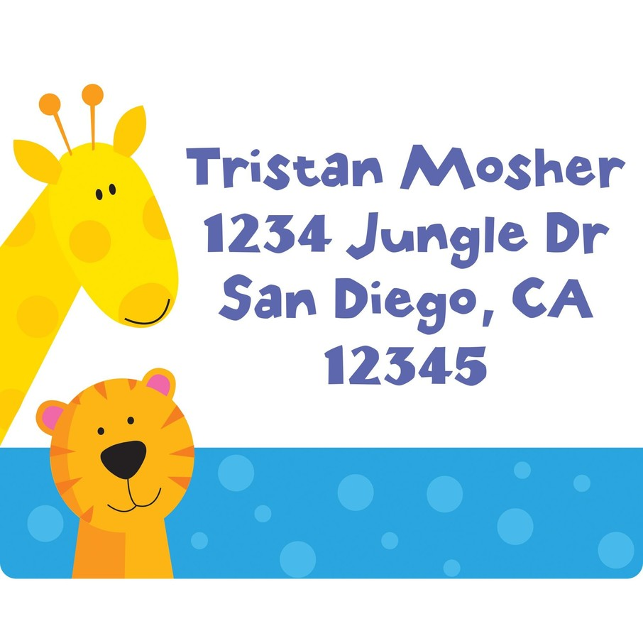 View larger image of Jungle Animals Personalized Address Labels (Sheet of 15)