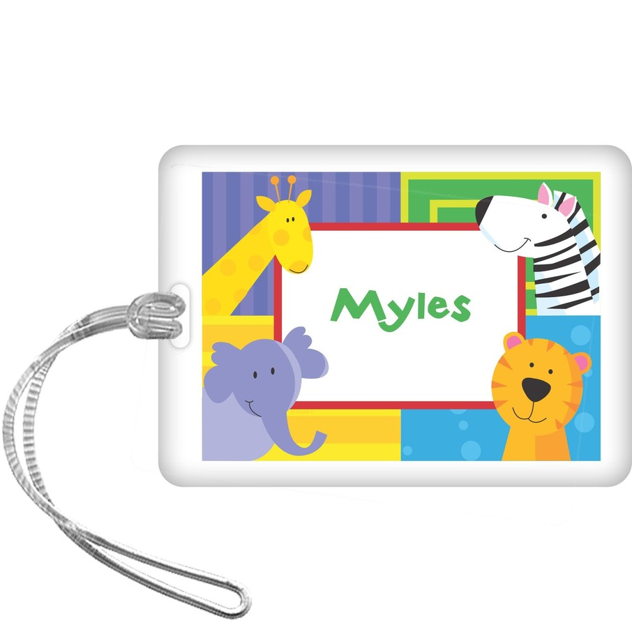 View larger image of Jungle Animals Personalized Bag Tag (each)