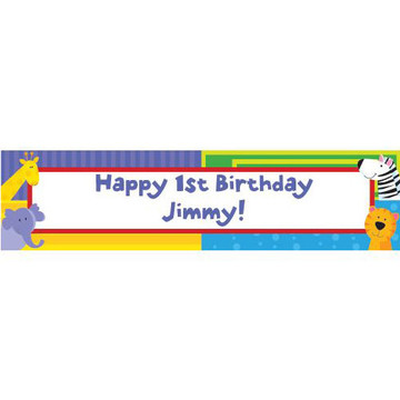 Jungle Animals Personalized Banner (each)