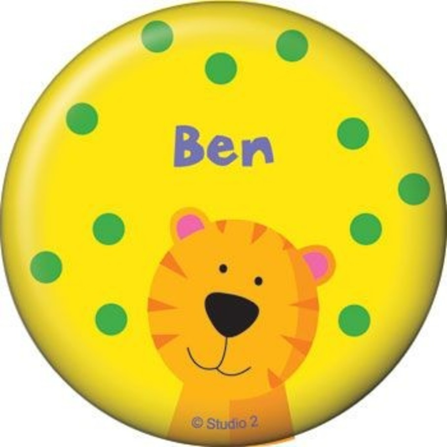 View larger image of Jungle Animals Personalized Button (each)