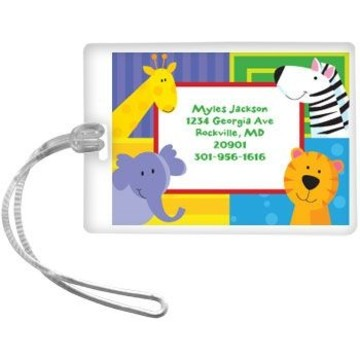 Jungle Animals Personalized Luggage Tag (each)