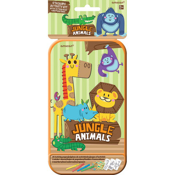 Jungle Animals Sticker Activity Box