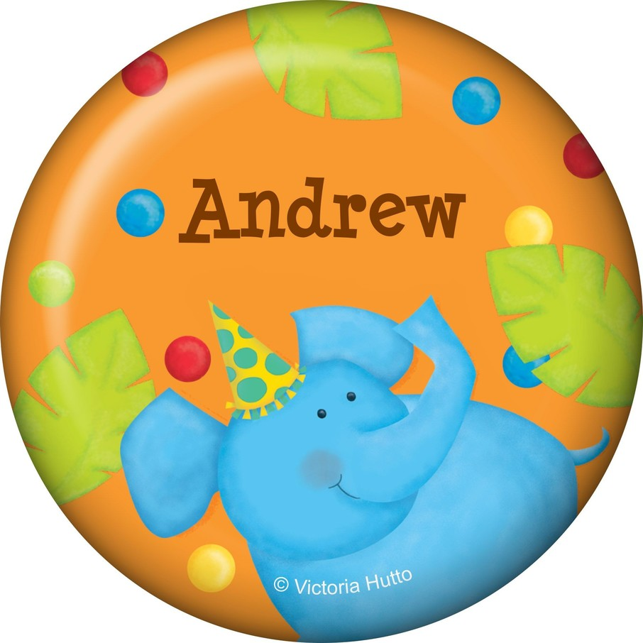 View larger image of Jungle Birthday Personalized Button (each)
