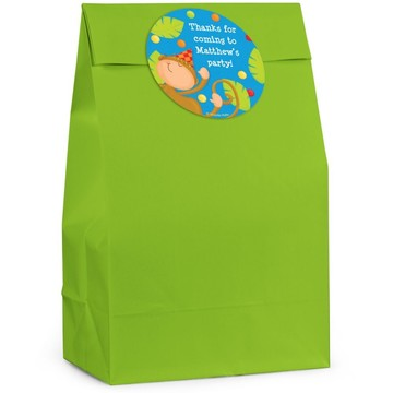 Jungle Birthday Personalized Favor Bag (Set Of 12)