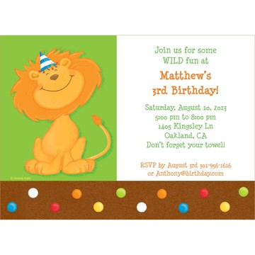 Jungle Birthday Personalized Invitation (each)