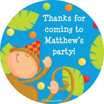 Jungle Birthday Personalized Sticker