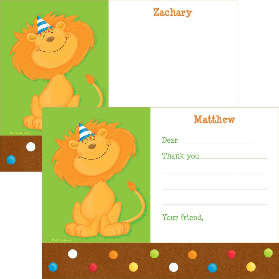 View larger image of Jungle Birthday Personalized Thank You Note