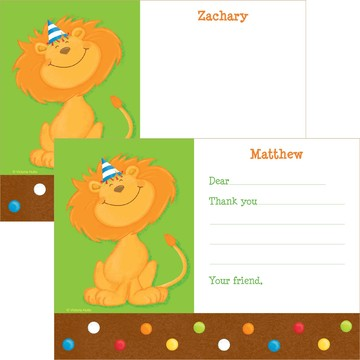 Jungle Birthday Personalized Thank You Note