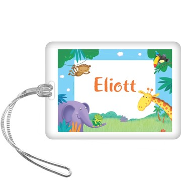 Jungle Party Personalized Bag Tag (each)
