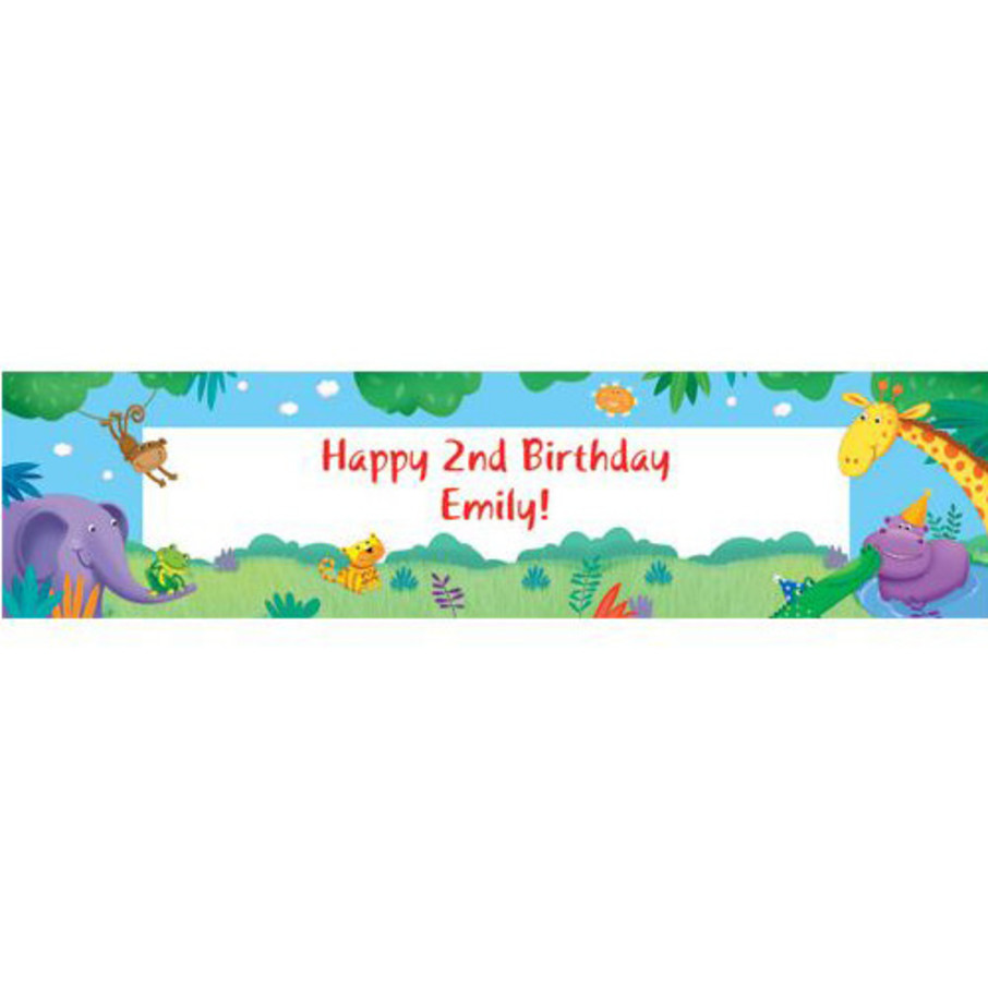 View larger image of Jungle Party Personalized Banner (each)