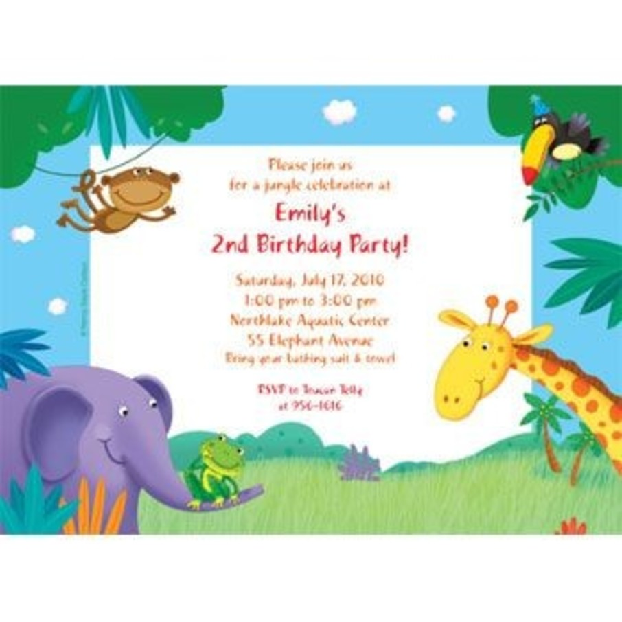 View larger image of Jungle Party Personalized Invitation (each)