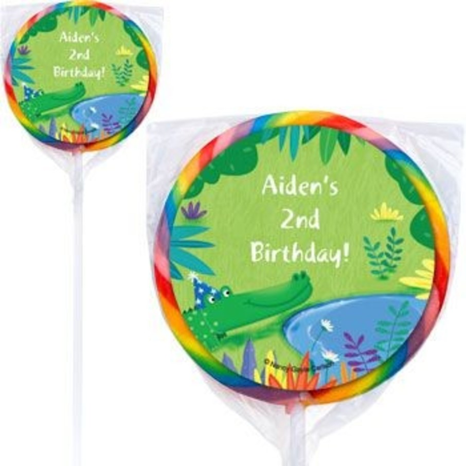 View larger image of Jungle Party Personalized Lollipops (pack of 12)