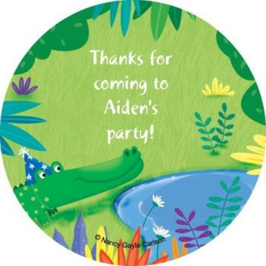 View larger image of Jungle Party Personalized Stickers (sheet of 12)