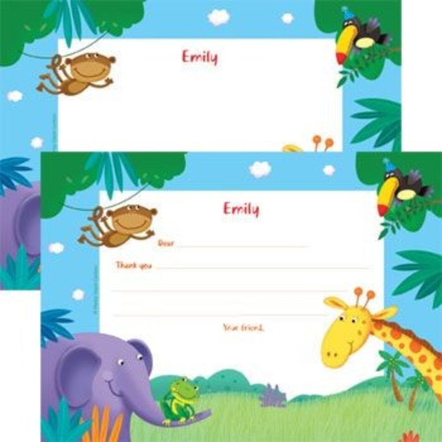 View larger image of Jungle Party Personalized Thank You Note (each)