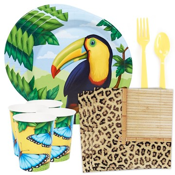 Jungle Party Standard Tableware Kit (Serves 8)