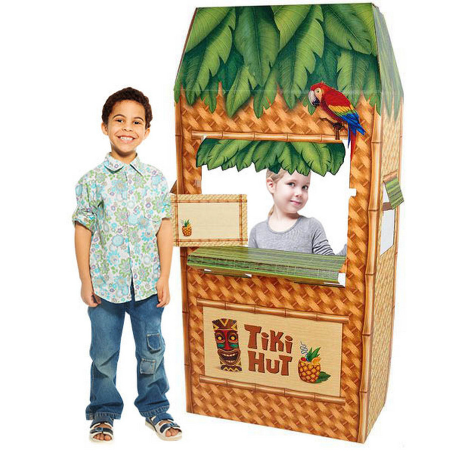 View larger image of Jungle Party Tiki Hut Cardboard Cutout Standee - 5.5' Tall
