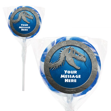 "Jurassic Personalized 2"" Lollipops (20 Pack)"
