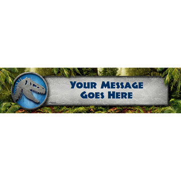 Jurassic Personalized Banner (Each)