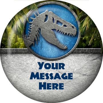 Jurassic Personalized Button (Each)